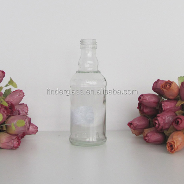 180ml liquor emtpy glass bottle/wholesale flint glass liquor bottles glass bottles price sale