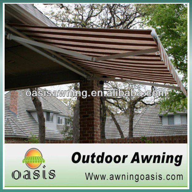 UV protection aluminum retractable rain awning