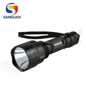 SANGUAN Cree Q5 LED White/ Green/Red hunting flashlight