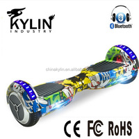 China manufacturer 6.5 inch graffiti UL hoverboard electric scooter