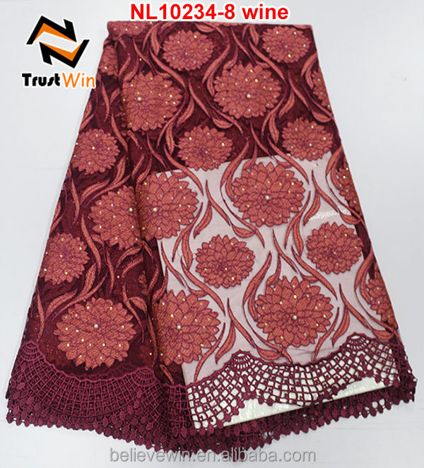 Wholesale Fashion Austrian Embroidery Designs Flower Lace With
