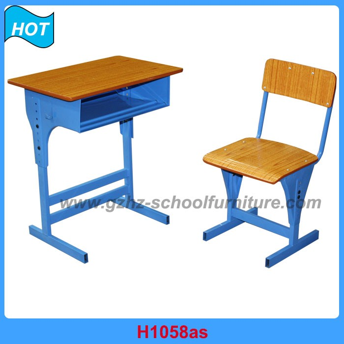 Guangdong Exporter School Furniture Wooden Study Desk and Chair Toy