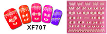 120Pcs Nail Decals Art Water Tranfer Sticker Nails Beauty Wraps Foil Polish Decals TemporaryTattoos Watermark H001