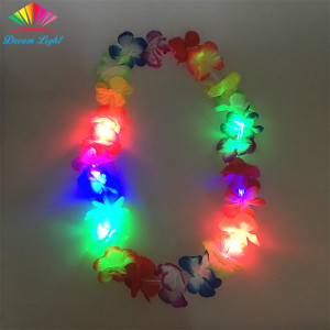 Flashing Hawaii Leis Light up Flower Necklace LED Flower Leis