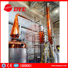 distillery system vodka machine alcohol spirits copper distillation equipment with storage tanks