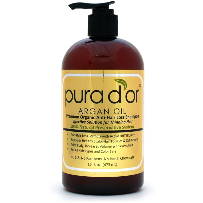 Pura D Or Argan Oil Premium Organic Anti Hair Loss Shampoo Gold