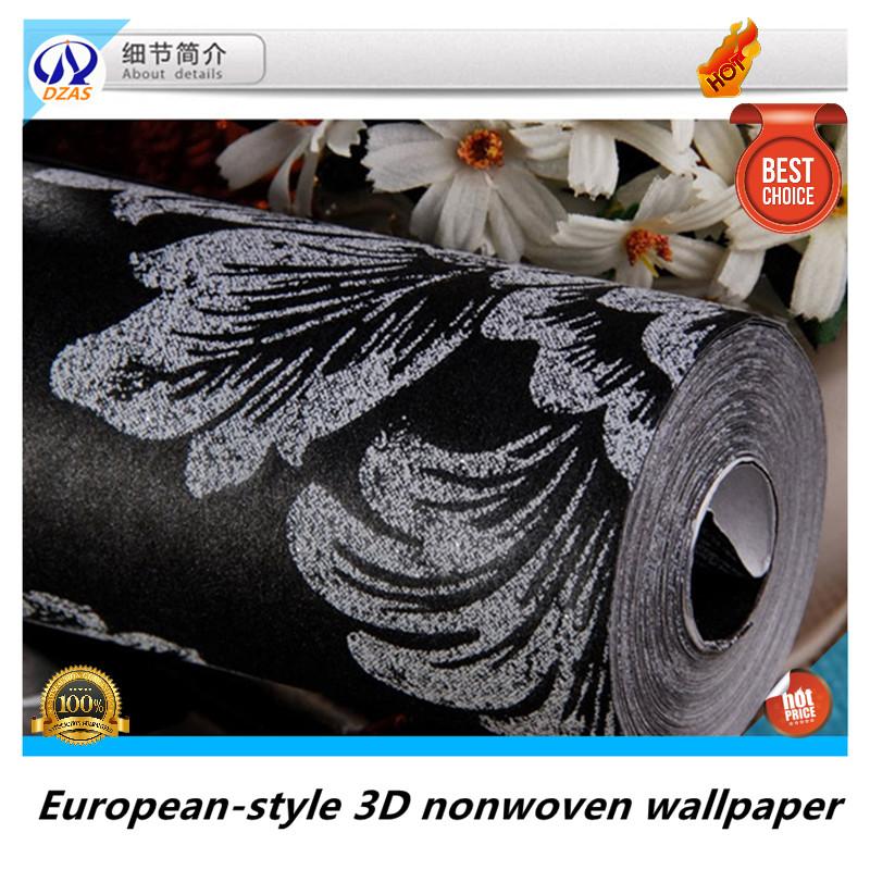 Top Quality Black Silver Color Wallpaper For Livingroom