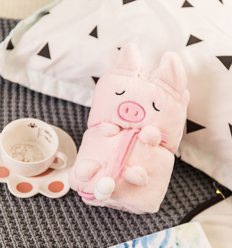 Amazon hot sale cartoon pig baby swaddle wrap blanket super soft flannel blanket, Pink or customized