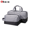 China manufacture wholesale zip custom canvas washbag with side guesst