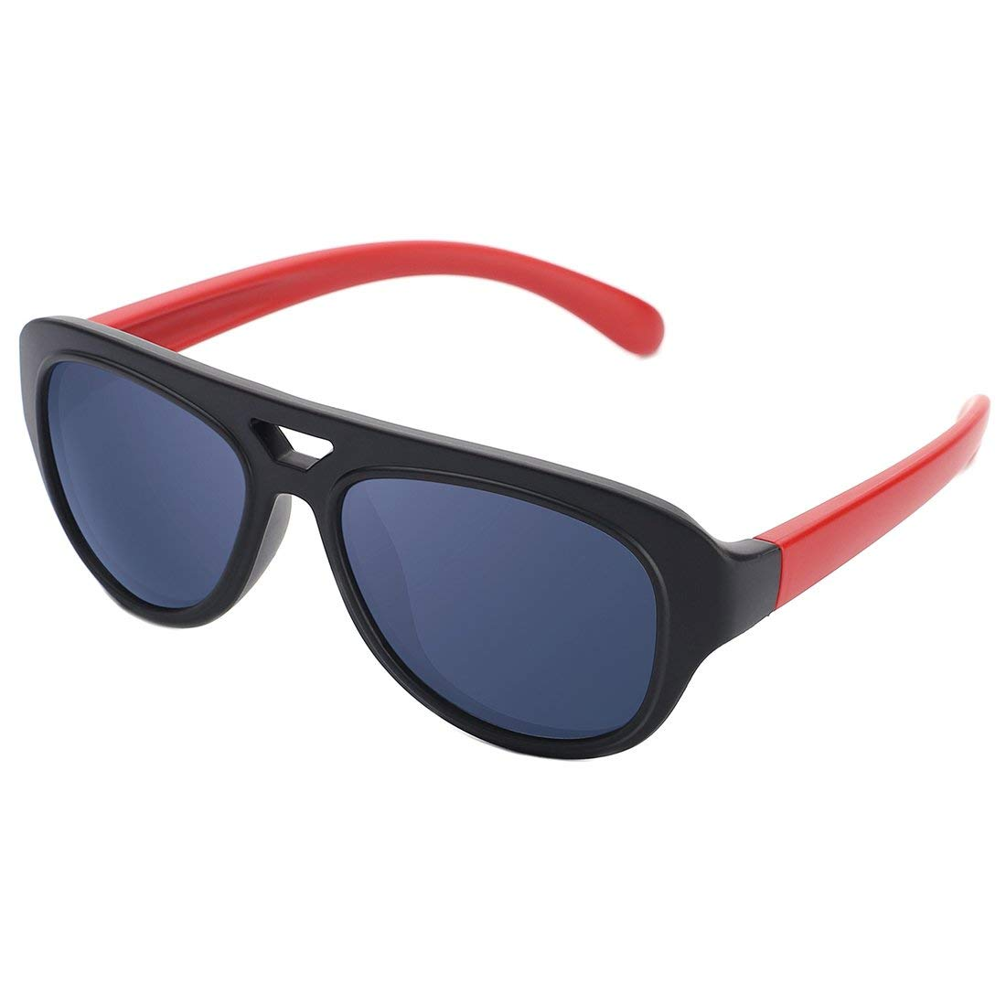 modesoda Kids Classic Polarized Sunglasses Silicon Frame for Girls and Boys Children Age 3-12