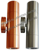 Up and down stainless steel or solid copper outdoor wall light fixtures