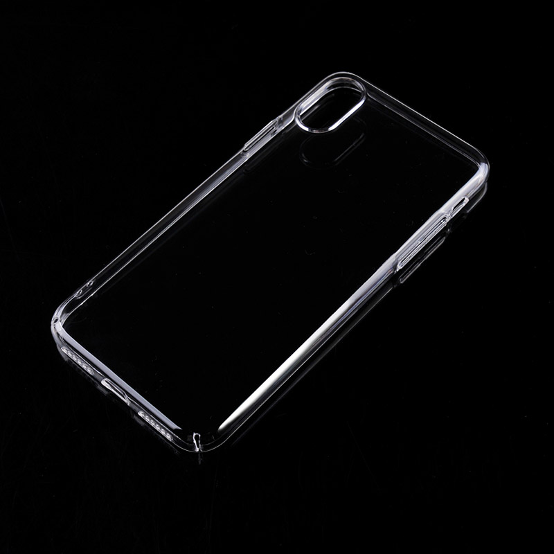 For iPhone X Crystal Clear Transparent Hard PC silver electroplating buttons full wrapping cellphone mobile cover for iPhone X