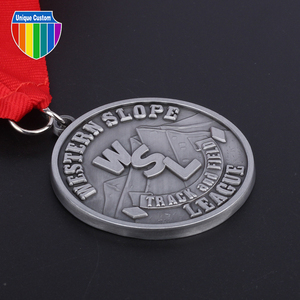 The Best Blank Silver Medal With Garland Border Neck Ribbon And Trophy