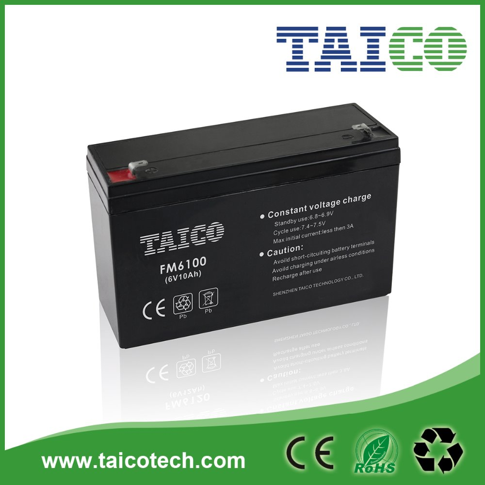 Good quality Sla Battery 6v10ah for kid's toy car with low price