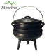 Outdoor BBQ Cast Iron Potjie Pot Cauldron for Camping