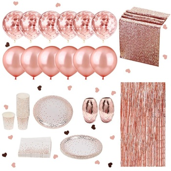 NICRO Wholesale Rose Gold Balloon Curtain Bachelorette Bridal Shower Bride To Be Wedding Party Decorations