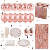 NICRO Wholesale Bridal Shower Rose Gold Wedding Party Decorations