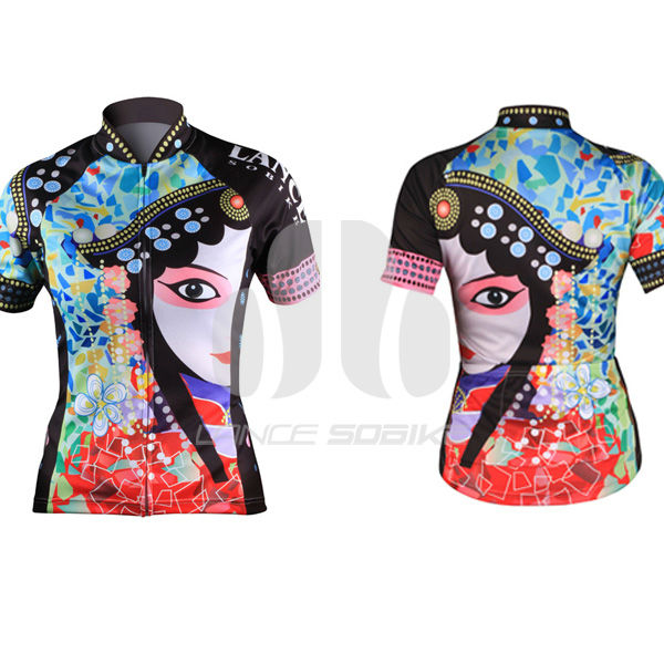 lance Sobike soomom lycra fabric sublimation print women Cycling Jersey