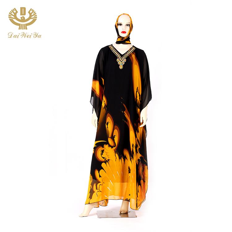 Seksi Kaftan İslam namaz müslüman mütevazı giyim