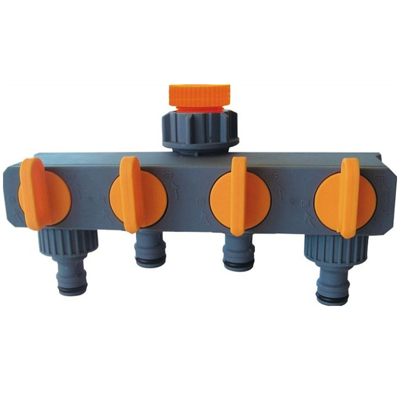 Garden Hose Fittings 4way Abs Plastic Water Faucet Adaptor Hose