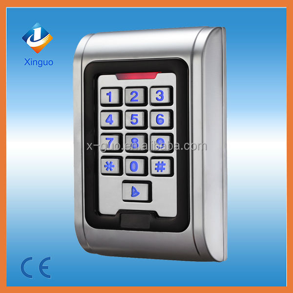 Hot selling! 3000 codes stainless steel door plate button rfid door lock access control system