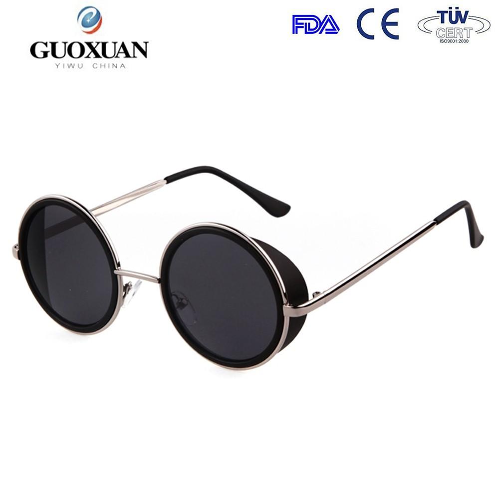 e3deb675ef Nuevo diseño de moda gafas de sol circulares gafas de marco metálico ...