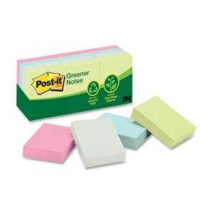 "3M Commercial Office Supply Div. Post-It Notes,Recycled,1-1/2""X2"",12/Pk,Assorted Pastel - 3M Commercial Office Supply Div. Post-It Notes,Recycled,1-1/2""X2"",12/Pk,Assorted Pastelpost-It Notes Recycled"