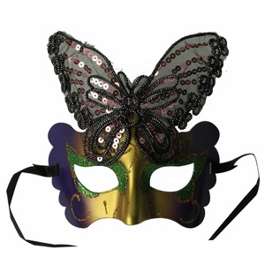 Mardi Gras Color Adult Venetian Butterfly Masks