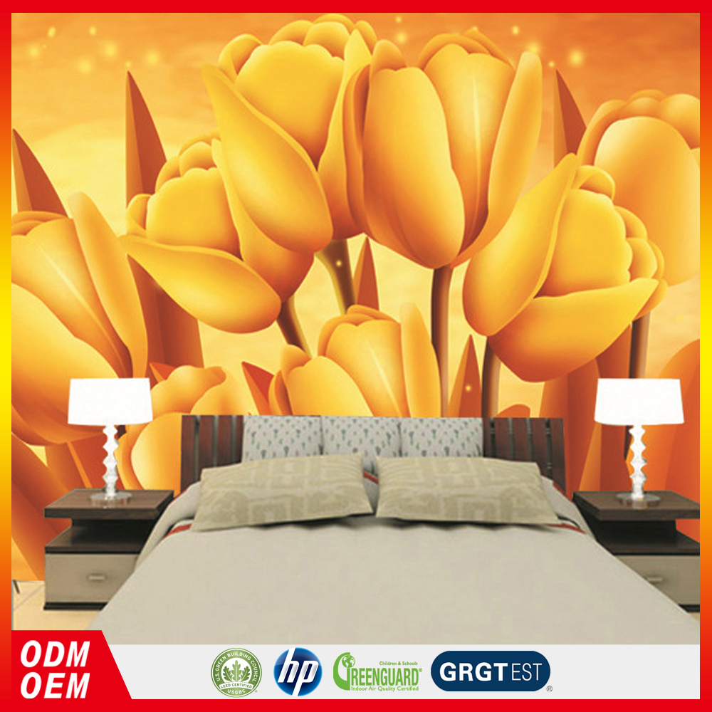 Golden Flower Wallpaper Suppliers And Manufacturers At Alibaba