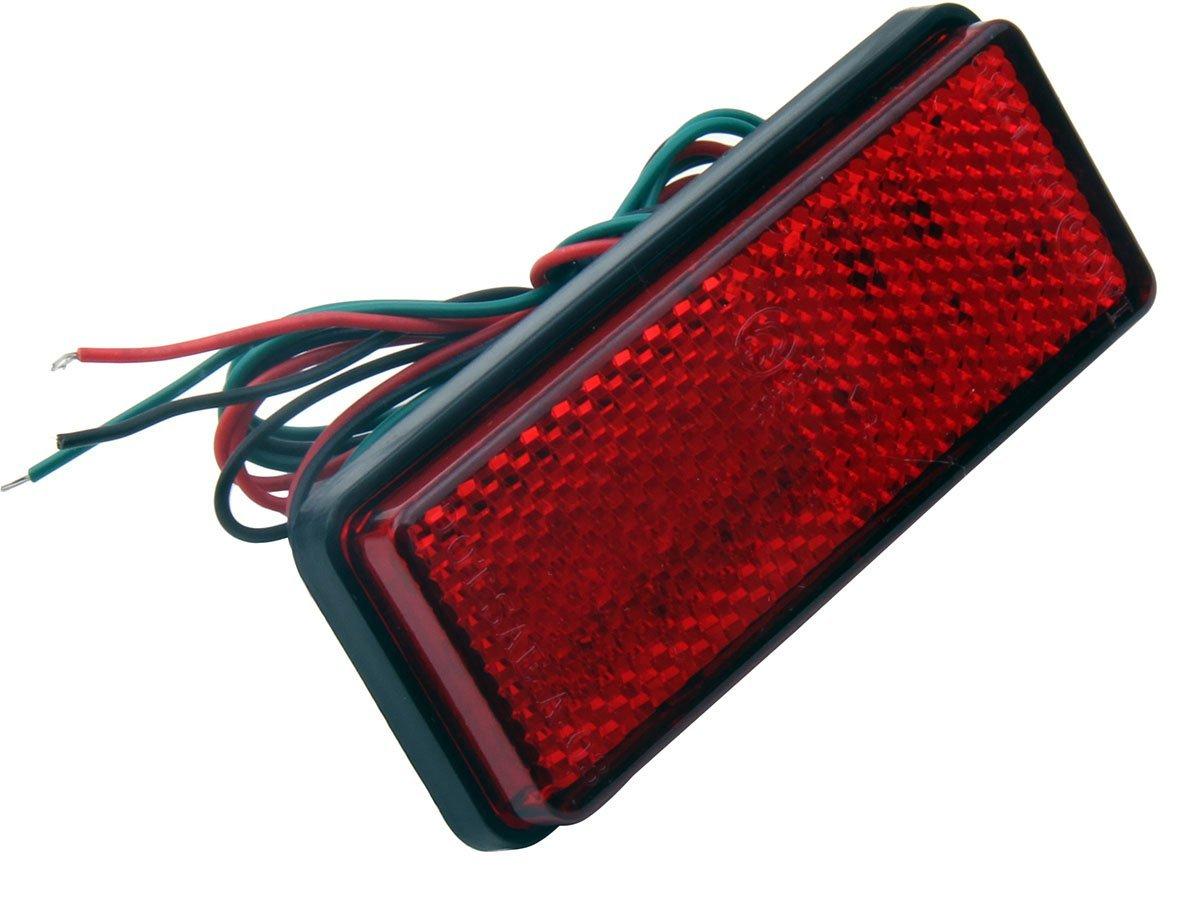 1 PC Red Retangle Reflector LED Rear Tail Brake Stop Lights for 2004 Honda CBR1000RR