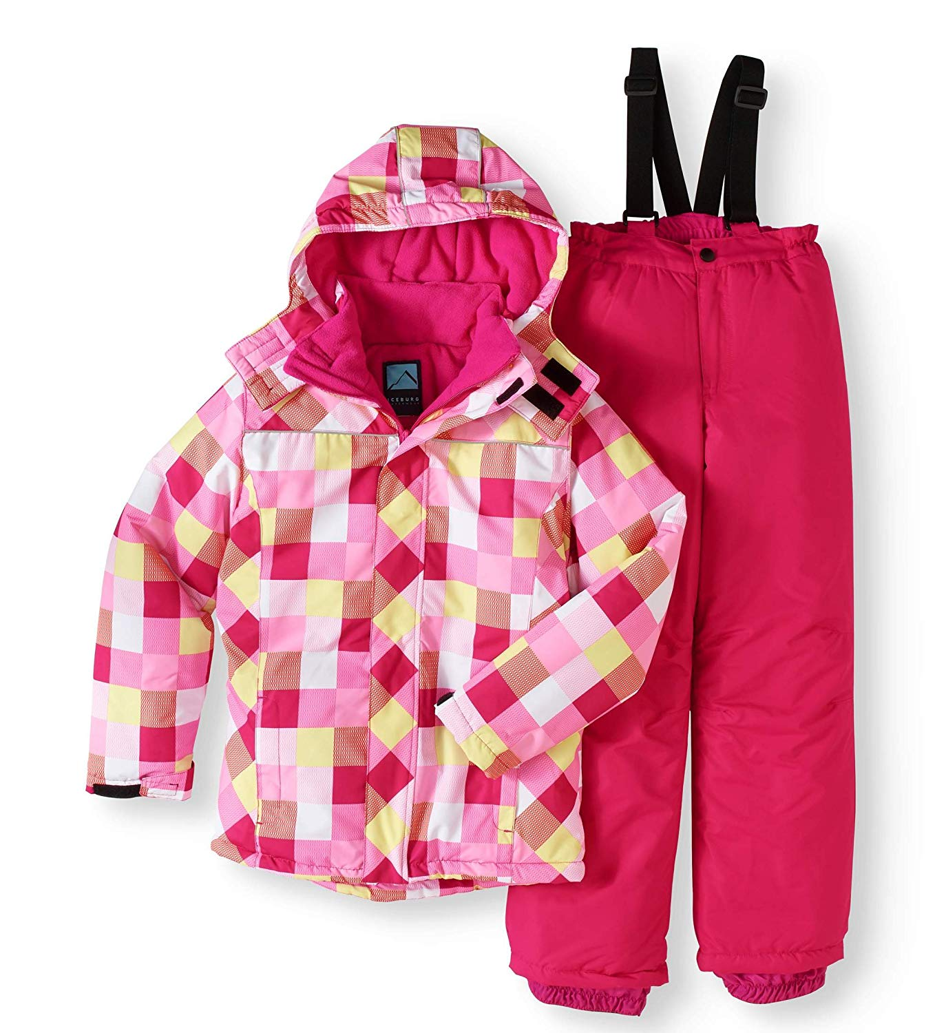 Iceburg Girls' Snow Day Snow Suit with Jacket and Bib 2 Pc Set Size 14/16