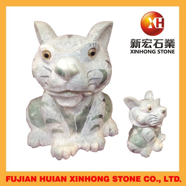 Little tiger stone craft with hand carving