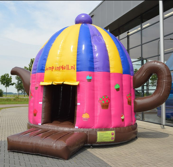 New Design Large Inflatable Jumping Dome Tea Pot Bouncer For Outdoor Play