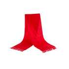 Cheapest free sample plain color customized logo red polar fleece scarf in stock