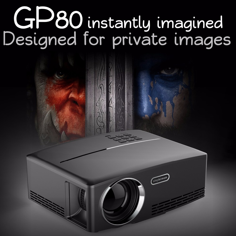 New arrival GP80 simplebeam <strong>projector</strong>, portable lcd <strong>projector</strong> ,school home Kindergarten all in one