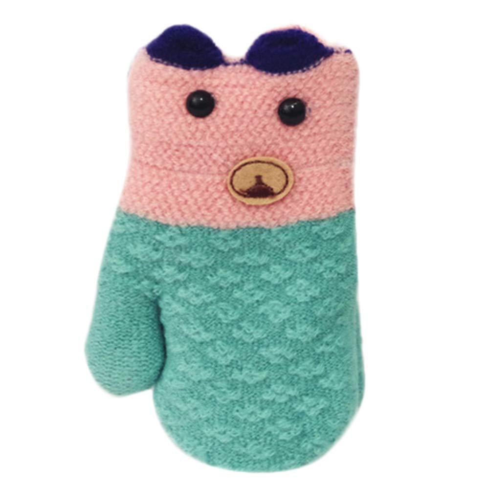 Baby Winter Warm Mittens, Kids Baby Boys Girls Toddler Knitted Creative Cute Thicken Mittens Gloves