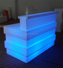 Special striped designed bar and resort outdoor night party furniture flashing LED counter