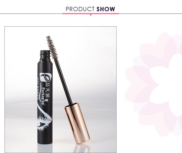 make up container slim round empty plastic mascara tube with brush