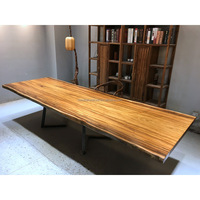 large size long banquet table solid wooden 12 seater dining table