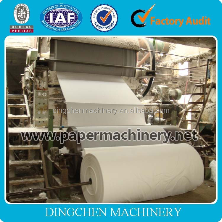 1092 mm china single dryer and single mold toilet paper making machine, whole production line
