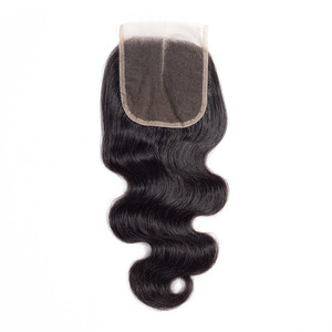Free Sample 4X4 Hair Weaving Lace Closure,Mink Brazilian Human Hair Closure,Weave Bundles With Closure