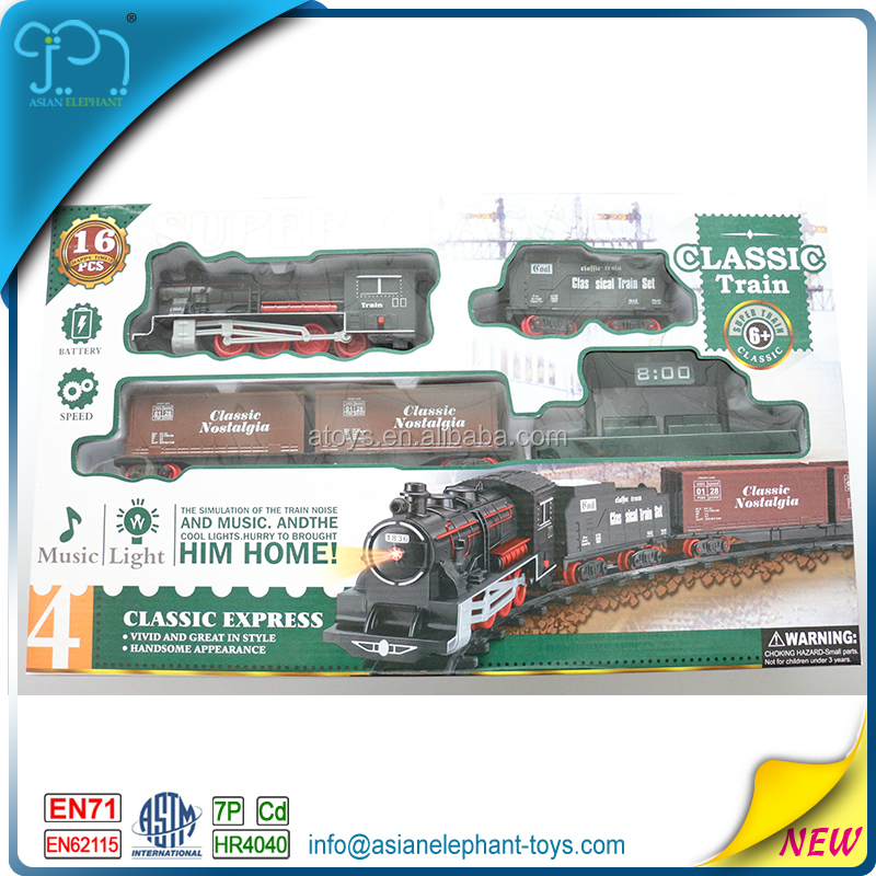 Toy Train Steam Locomotives For Kids Track Electric Train Toy With Light