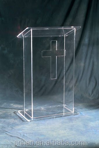 Hot Sale Luxury Acrylic Church Pulpit Plexiglass Podium Wholesale