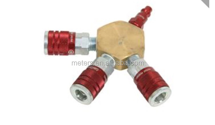 USA Type 3 Way Copper Quick Coupler