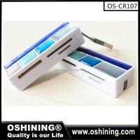 USB 2.0 Multi 4slots Memory Card Reader for SD,MMC,RS-MMC,MINI SD(OS-CR107)