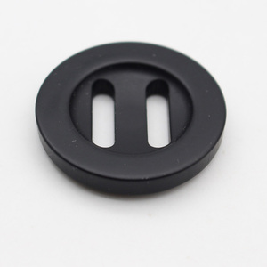 large size polyester black button for garments