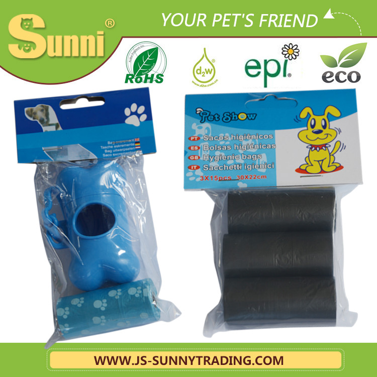 Eco-friendly Dog Pe Black Garbage Bag With New Design Transparent Bone Box Packaging