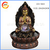 resin Buddha fountain led polyresin garden water fountain with Man god sculpture