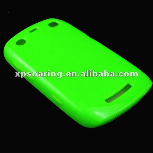 rubber skin case back cover for blackberry 9360