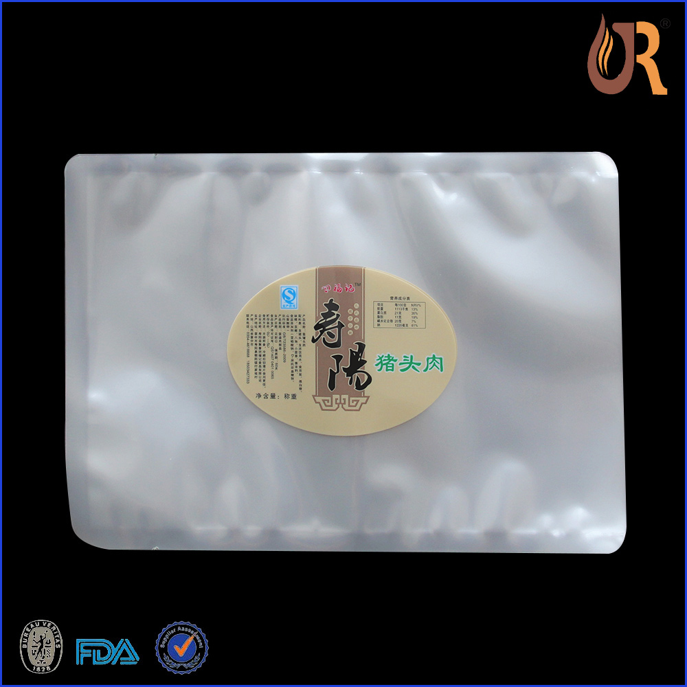 Transparent PA/PE plastic vacuum bags/Food vacuum packing pouch for meat